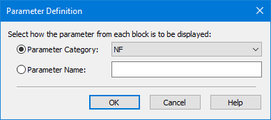 Dialog Box Reference: RFB Spreadsheet Wizard Parameter Definition