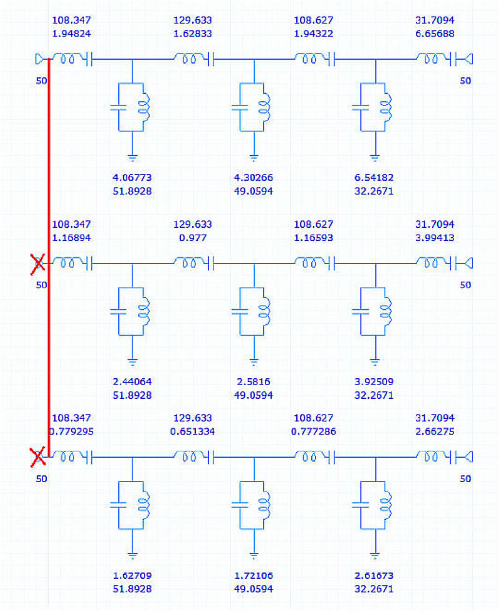 User Guide 134 Ifilter Filter Wizard In Fact With Only A Small Addition This Circuit Is Capable Of The Channels Are Normally Connected At Source End And There One Termination However For Display Purposes Displayed As If