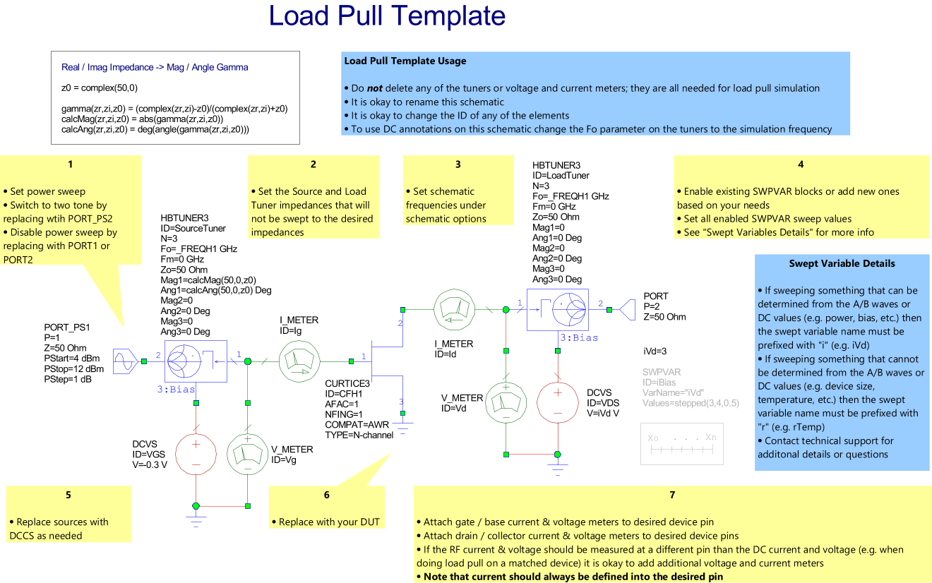 User Guide 1318 Load Pull Script Images Setup Schematics Results Template Schematic This Adds An Additional Or Choose Scripts To Add A Project